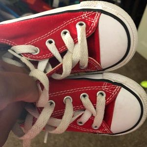 Other - Red converse size 7